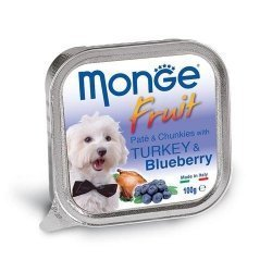 Консервы Monge Dog Fruit для собак индейка с черникой 100 г