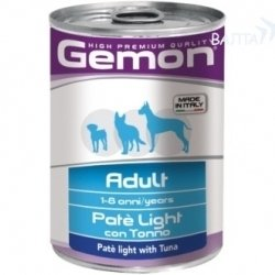 Консервы Gemon Dog Light для собак облегченный паштет тунец 400г